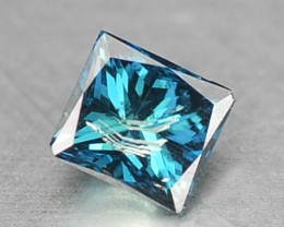 0.14 Cts Natural Fancy Blue Diamond Square Princess Africa