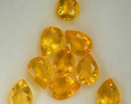 7.57 Cts Natural Mexican Orange Fire Opal 9 Pcs Parcel