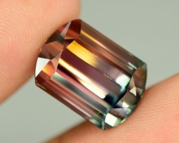 12.30  carats bi ~ Color Blader Cut Tourmaline Gemstone from   Afghanistan