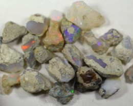 121.0Cts Ethiopian Welo Rough Opal Parcel Lot