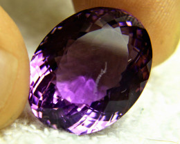 CERTIFIED - 32.62 Carat Purple Brazil Amethyst - Gorgeous