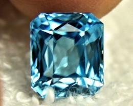 7.25 Carat IF / VVS1 Southeast Asian Blue Zircon - Gorgeous