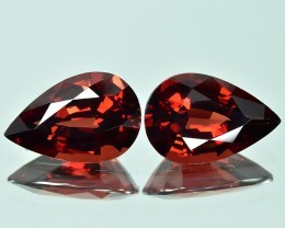 11.40 Cts Beautiful Matching Pair Natural Almandite Garnet  No Reserve