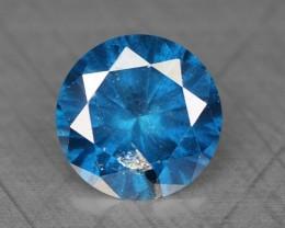 0.25 Cts Natural Titanium Blue Diamond Round Africa