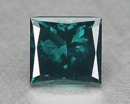 0.10 Cts Natural Greenish Blue Diamond Square Africa