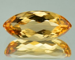 2.21 CTS IMPERIAL TOPAZ MARQUISE PEACHY GOLD COLOR BRAZIL