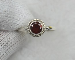 NATURAL UNTREATED  RING 925 STERLING SILVER JE688