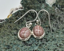 NATURAL UNTREATED AGATE EARRINGS 925 STERLING SILVER JE697
