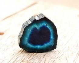 11.95 Ct Natural Indicolite Blue & Black Tourmaline Single Slice