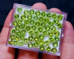 No Reserve 40 Crt Calibrated Size Peridot For Jewelry
