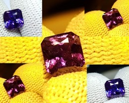 UNHEATED 1.59 CTS CERTIFIED VIOLET TO PURPLE COLOR CHANGE SAPPHIRE CEYLON
