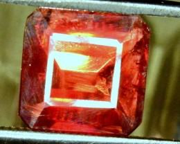 5.55 Carats Extremely Rare Octangal Cut Blood Red Color Tantalite Gemstone