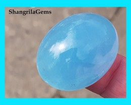 RESERVED FOR CUSTOMER 32mm 76.5CT Aquamarine cabochon from Brazil