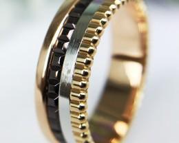 Boucheron Quatre  - Three Color Gold Ring