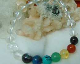 Natural Beautiful beads  Bracelet White Quartz,Citrine,Lapiz Amet