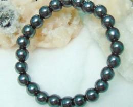 Hematite Stone Bracelet 8 mm 138.65cts