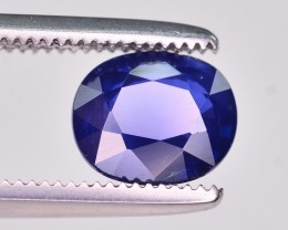 GIL Certified 1.25 Ct Gorgeous Color Natural Royal Blue Sapphire