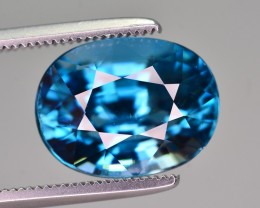 GIL CERTIFIED  7.36 CT TOP QUALITY BEAUTIFUL COLOR BLUE ZIRCON