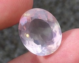 15.35 cts VVS Faceted Pink Quartz - From Brazil !!