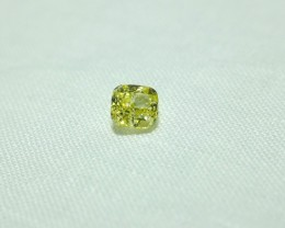 2ct Fancy Yellow Cushion Cut Diamond GIA