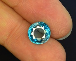 4.05 ct Natural Blue Zircon From Cambodia