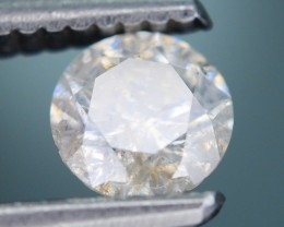 "Certified 0.67 ct Diamond Untreated ""H"" Color SKU 4"