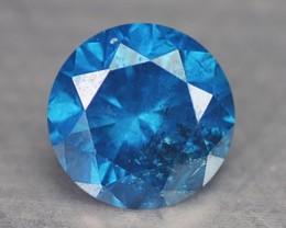 0.18 Cts Natural Titanium Blue Diamond Round Africa