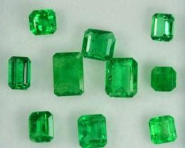 4.24 Cts Natural Green Emerald Octagon Zambian Parcel