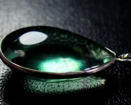 47  CT Natural - Unheated Green Fluorite Pendant