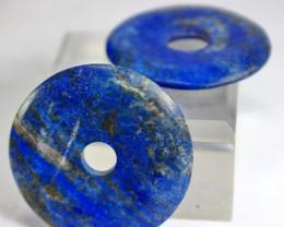 142.40 CT Natural lapis  lazuli Carvid Dount  Pair Stone Special Shape