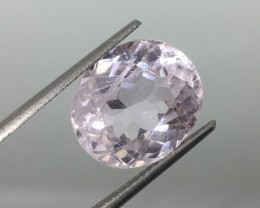 8.60 Carat Soft Pink Kunzite - Beautiful Sparkle and Size !