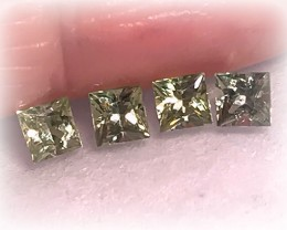 4 PIECE GREEN SAPPHIRE PARCEL - JEWELLERY GRADE GEMS 3.50MM EACH