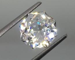 3.21 Carat VVS Topaz Diamond White Nigeria Master Cut - Masterpiece !