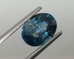 2.82 Carat VVS Zircon Deep Caribbean Blue - Gorgeous Color and Flash !