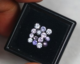 1.53ct Natural Pink Sapphire Round Cut Lot GW2042