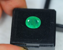 2.94ct Natural Zambia Emerald Oval Cut Lot GW2043