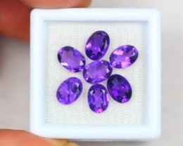 4.95ct Natural Amethyst Oval Cut Lot GW2046