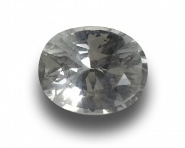 GIA Certified Natural Unheated White Sapphire|Loose Gemstone|New| Sri Lanka