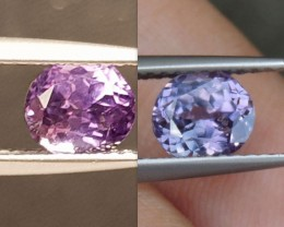 1.33cts, Unheated Color Change Sapphire, Certified