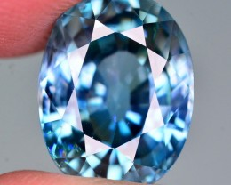 GIL Certified 9.98 Ct Top Grade Natural Vibrant Blue Zircon