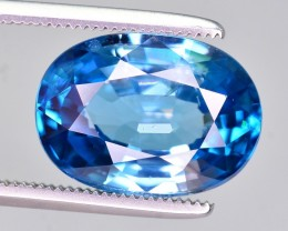 GIL Certified 7.50 Ct Beautiful Color Natural Vibrant Blue Zircon