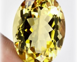 30.05ct BRIGHT GOLDEN YELLOW TONED CITRINE  - no reserve!
