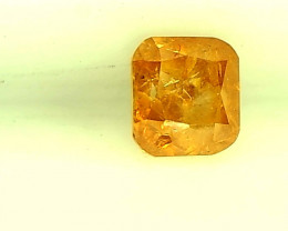 0.24cts  Fancy Intense Yellowish Orange , 100% Natural Untreated