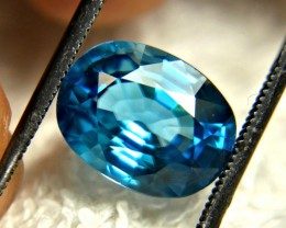CERTIFIED - 6.33 Carat London Blue Southeast Asian Zircon - Gorgeous