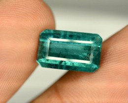 No Reserve -3.45 Carats  Top Color Natural  Indicolite Tourmaline Gemstone