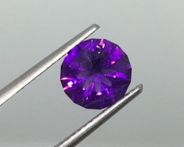 1.45 Carat VVS Amethyst Uruguay Master Cut - Gorgeous Color and Flash !