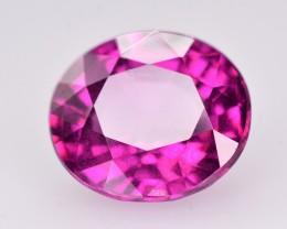 Rarest Size ~ 3.40 Ct Attractive Color Natural Grape Garnet ~ Mozambique