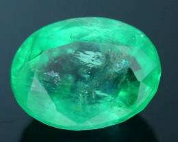 Glowing 1.24 ct Colombian Emerald SKU.8