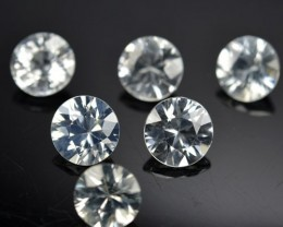 5.32 Cts Natural White Zircon Round Unheated Parcel