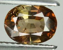 1.28 Cts Natural Brownish Red Axinite Oval Afghanistan Gem
